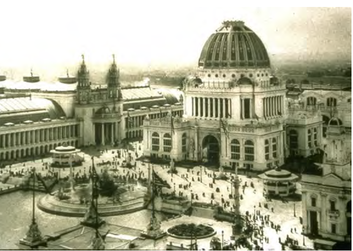 Figure 3.5 – 2: The exposition incorporated many classical city features that had been neglected by urban designers of that era.