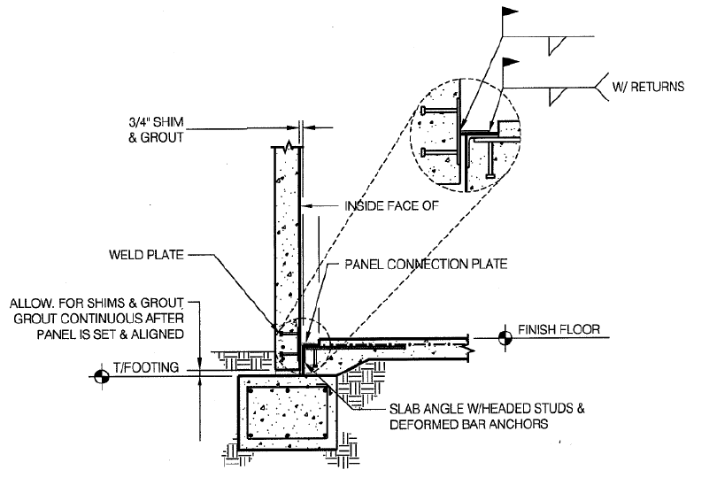 Figure 5.1 Welded Foundation Connection (Ward).