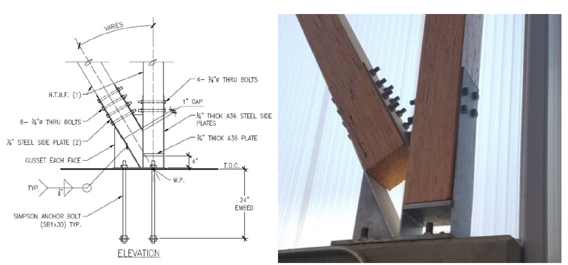 Figure 3: Drafted Detail and Existing Connection