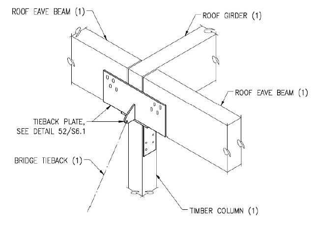 Figure 14: Glulam Beam to Column Connection